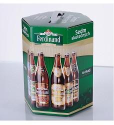 SEDM skutečných 7 pack -sedm druhů piva 0,50 FERDINAND sklo