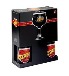 KASTEEL  ROUGE dárkový set 2 x 0,75  + sklenice  -/ 8%  belgické pivo