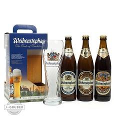 Weihenstephaner 1xHefeweissbier+1xVitus+1xKorbinian 3x0,5l+sklenka  7,1% německé piv.