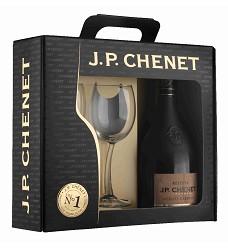 J.P.CHENET Merlot - Cabernet 0,75l + 2 skleničky