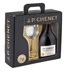 J.P.CHENET CAB.SYRAH rouge 0,75 + 2 skleničky