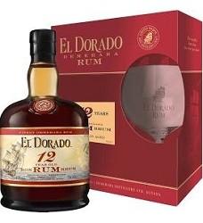 EL DORADO   12 Anos 40% 0,7 l  (rum .)GUYANA+ 1x sklenice