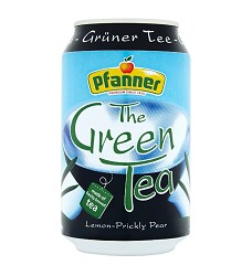 PF - zelený čaj citron/kaktus  plech 0,33 PFANNER