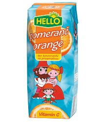 HELLO MINI pomeranč -  0,25l   nový obal