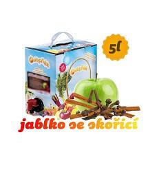 OVOCŇÁK mošt  JABLKO  se skořicí /svařené jablko/  -   5 l BiB