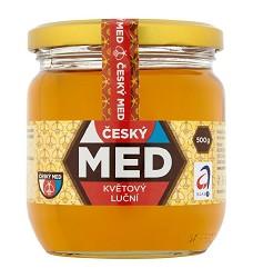 ČESKÝ Med květový  500 g  -  MEDOKOMERC