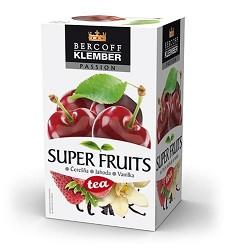 KLEMBER čaj Super Fruits třešeň ,jahoda,vanilka  50 g    /