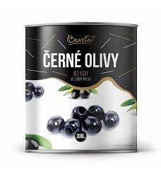 BASSTA - ČERNÉ OLIVY bez pecky 3 kg /