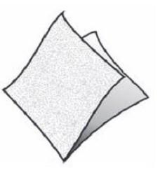 BS- Ubrousky 33x33 1vrstvé bílé 100ks